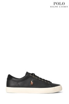 Polo Ralph Lauren Perforated Leather Longwood Trainers