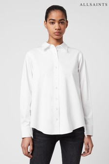 AllSaints White Isir Lace Shirt
