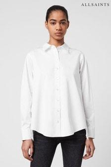 AllSaints White Isir Lace Shirt