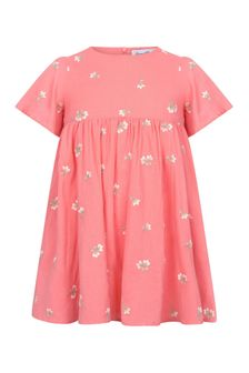 Tartine et Chocolat Girls Pink Cotton Dress