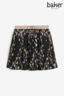 Baker By Ted Baker Girls Floral Pleated Skirt