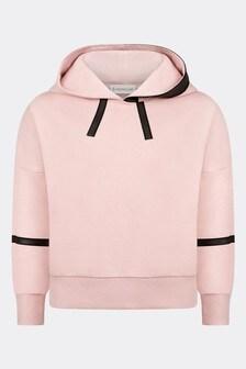 Moncler Enfant Moncler Girls Pink Cotton Hoody
