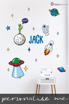 Personalised Space Wall Sticker by Loveabode