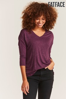 FatFace Purple Saskia Sparkle Top