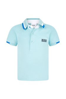 Boss Kidswear Baby Boys Yellow Cotton Poloshirt