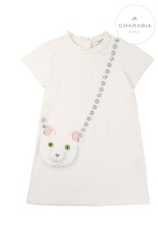 Charabia White Cat Dress