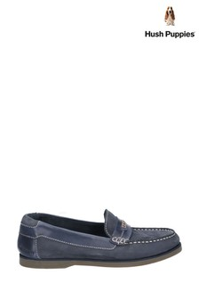 Hush Puppies Blue Finn Slip-On Shoes