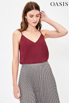 Oasis Red Cami Top