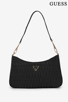 Guess Black Layla Quilt Shoulder Bag