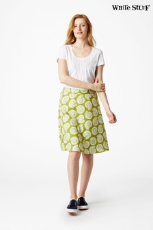 White Stuff Green Bennath Reversible Skirt