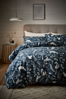 Brushed 100% Cotton Woodland Duvet Cover and Pillowcase Set