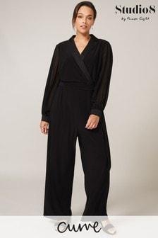Studio 8 Black Karolina Tuxedo Jumpsuit