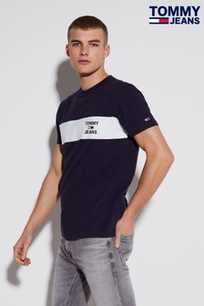 Tommy Hilfiger T-Shirt mit Logostreifen auf der Brust