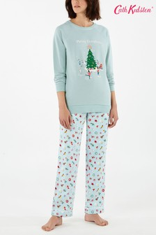 Cath Kidston Blue Christmas Cheer Pyjama Bottoms