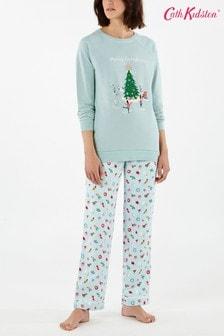 Голубая пижама с веселым рождественским рисунком Cath Kidston