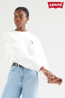 Levi's® White Humming Bird Crew Neck Sweater
