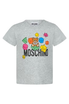 Moschino Kids Baby Grey Cotton T-Shirt