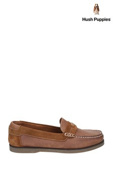 Hush Puppies Tan Finn Slip-On Shoes