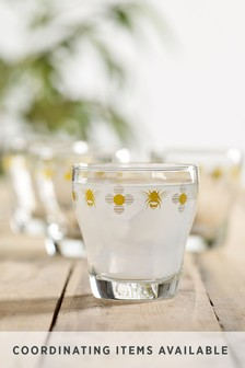 Set of 4 Bee Stacking Tumbler Glasses