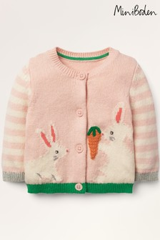 Boden Pink Fun Knitted Cardigan
