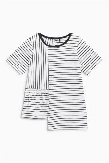 Stripe Asymmetric T-Shirt (3mths-6yrs)