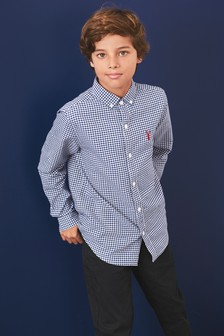 Gingham Check Long Sleeve Oxford Shirt (3-16yrs)