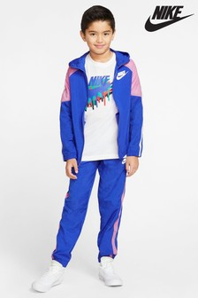 Nike Blue/Pink Woven Tracksuit