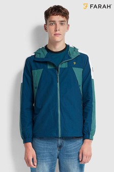 Farah Green Ra Long Sleeve Windbreaker Jacket