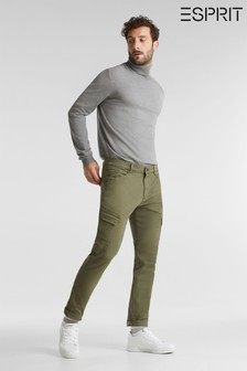 Esprit Green Straight Cargo Woven Trousers