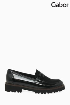Gabor Black Simone Womens Modern Patent Casual Shoes