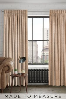 Lara Copper Natural Made To Measure Curtains