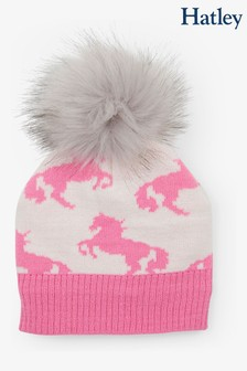 Hatley Natural Playful Horses Winter Hat