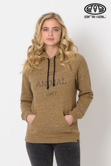 Animal Breen Green Marl Speckles Hoody