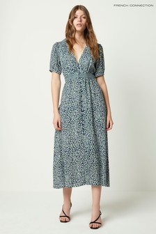 French Connection Cade Drape Buttoned Front Dress