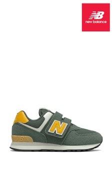 New Balance Green Junior 574 Trainers