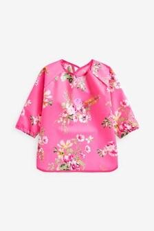 Floral Long Sleeved PU Bib