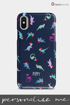 Personalised Christmas Dinosaur Phone Case by Loveabode