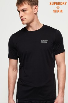 Superdry Active Loose Diagonal Logo T-Shirt