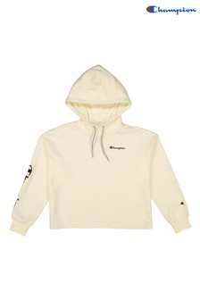 Champion White Hooded Crop Top