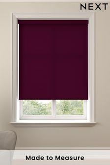 Asher Blackcurrant Purple Made To Measure Light Filtering Roller Blind