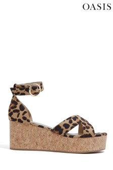 Oasis Animal Cork Flatform Wedge