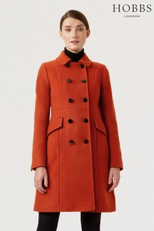 Hobbs Orange Dorothea Coat