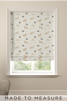 Wildlife Made To Measure Roman Blind