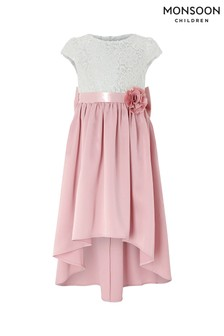 Monsoon Pink Charlotte High Low Dress