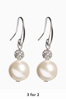 Pavé Crystal Drop Earrings