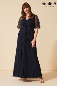 Studio 8 Navy Nancy Beaded Dress