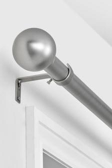 Ball Finial Extendable Curtain Pole Kit 35mm