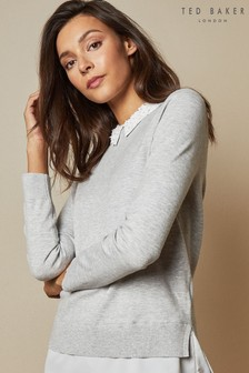 Ted Baker Embellished Collar Jumper