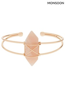 Monsoon Gold Tone Sammy Stone Cuff Bangle