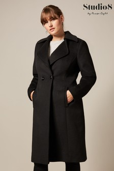 Studio 8 Black Addison Wool Coat